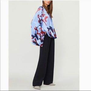Max Mara Silk Wide-leg Trousers Made in Italy